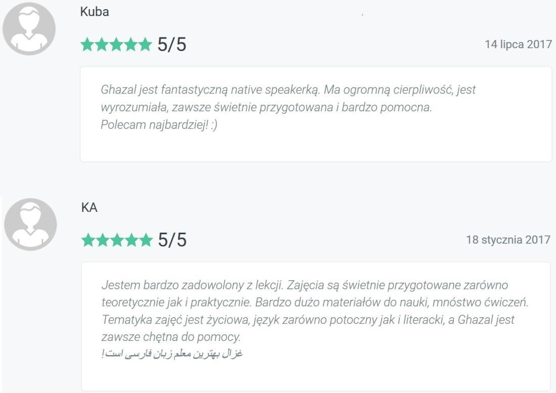 korepetycje język perski